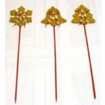 GOLD CHRISTMAS PICK PACK OF 12  PIK303
